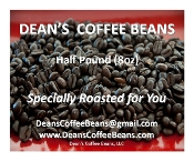 Fresh Roasted Whole Coffee Beans (Half Pound)
